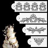 Jual 4 Buah These Flowers Dibetulkan Sisi Kue Kue Fondant Stensil Alat Dekorasi Pernikahan Murah