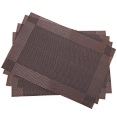 4pcs/Pack Heat Insulation Anti-skid Stain-resistant Simple Style Dining Room PVC Placemat for Home Dining Hall Kitchen - intl