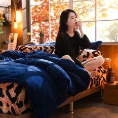 4 Pcs Set Musim Dingin Hangat Flanel Bedding Sets Zebra Pattern Leopard Print Bed Linen Bedclothes Soft Selimut Nyaman Cover Pillowcase Fitted Bed Sheet Queen Size Cocok Untuk 1 8 M Bed Intl Diskon Akhir Tahun