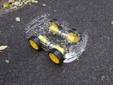 Harga Hemat 4Wd Smart Robot Mobil Chassis Kit Untuk Arduino Dengan Kecepatan Encoder Baru Internasional