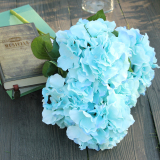 Ulasan Tentang 5 Kepala Bunga Semacam Bunga Buatan Buket Bunga Pesta Rumah Bunga Biru