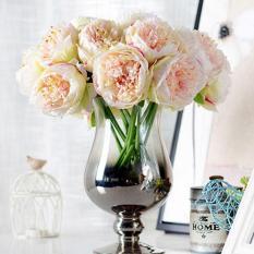 5 Kepala Peony Bouquet Gerbera Buatan Sutra Bunga Bridal Rumah Dekorasi-Intl