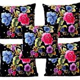 Spesifikasi 5 Pcs Monalisa Sarung Bantal Sofa Motif Kembang Lengkap