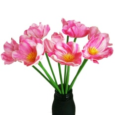 5 Pcs Rumah Pernikahan Decor furniture Baru Buatan Mini Poppy Sutra Fake Bunga-Intl