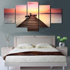 5 Piece Malaysia Seaside Sunset Minyak Dekoratif Lukisan Di Dinding Kanvas Seni Gambar untuk Ruang Tamu Tanpa Bingkai-Internasional
