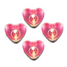 Beli 50 Buah Bentuk Hati Lilin Ulang Tahun Pesta Pernikahan Dekorasi Rumah Hadiah Cinta Berwarna Merah Muda Lengkap