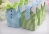 Jual 50 Pcs My Little Man Blue Green Bow Tie Birthday Blessing Birthday Party Blessing Candy Box Birthday Party Intl Oem Asli