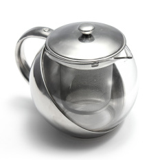 Jual 500 600 750 800 Ml Teko Kaca Stainless Steel Infuser Daun Teh Herbal And Saringan Ori