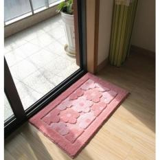 50*80 Cm Karpet Anti-slip Mats Sederhana Rumah Modern Mesin Cuci Kamar Mandi Tikar Penyerap Air Pink -Intl