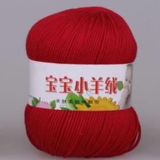 50g Lembut Benang Rajut untuk Crochet Bayi Sweater Knit White Black Pink Rose Kuning Ungu Hijau-Int