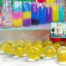 50g Air Aqua Crystal Tanah Gel Bola Beads Vase Centerpiece Kuning-Intl