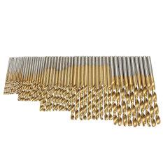 Jual 50 Buah Hss Spiralbohrer Bohrer Ditetapkan Stahlbohrer Metallbohrer Titan 1 1 5 2 2 5 3Mm Grosir