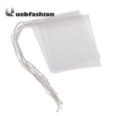 Miliki Segera 50 Pcs Portable Nylon Kosong Kantong Teh Seal Filter String Kantong Teh Putih 5X6 Cm Intl