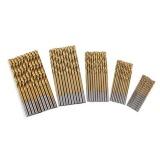 Review Terbaik 50Pcs Set Twist Drill Bit Set Coated Drill Woodworking Wood Tool 1 1 5 2 2 5 3Mm For Metal Titanium Color Intl