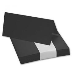 50x Tischkarten in Black // Größe: 100 x 90 mm (gefaltet 100 x 45 mm) // 240 g/m² - Sehr schwere und stabile Qualität // Aus der Serie FarbenFroh von NEUSER! - intl