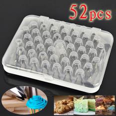 52 Pcs DIY Icing Piping Nozel Pastry Tips Tas Cookie Sugarcraft Cake Decorating Supplies Pastry Alat Set