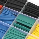 Spesifikasi 530 Pcs Colorful Poliolefin Halogen Free Heat Shrink Tubing Tube Sleeving Bungkus Kawat Kabel Kit 8 Ukuran Rasio Shrink 2 1 �1 5 �10Mm Lengkap