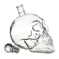 550 Ml Kepala Tengkorak Kristal Vodka Wiski Decanter Botol Kaca