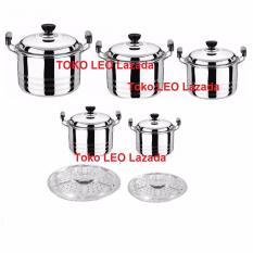Cara Beli 555 Cookware Set Home Lux 12 Pcs Dilengkapi Steamer Kukusan Langseng Stainless Steel