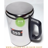 Diskon 555 Thermos Mug Stainless Steel Ware High Quality 350Ml Gelas Termos Cangkir Minum Air Panas Dingin Multifungsi