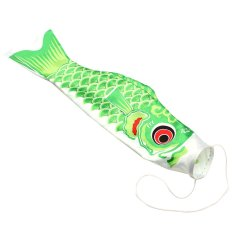 55 Cm Ikan Gurame Jepang Windsock Bendera Koi Ikan Layaran Pita Angin Warna BARU Hijau-Internasional