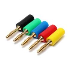 Harga Termurah 5 Warna 2Mm Banana Plug Male Jack Audio Speaker Kawat Kabel Konektor Berlapis Emas Internasional