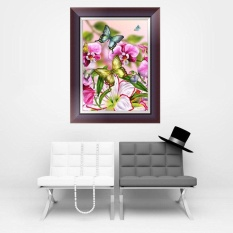 5D Kupu-kupu Bunga Berlian Bordir Berlian Buatan Lukisan Silang Stitch Dekorasi-Internasional