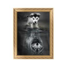 5D Anjing Berlian Bordir Lukisan Berlian Buatan Silang Stitch Kerajinan Tangan Dekorasi Rumah-Internasional