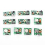Dapatkan Segera 5 Pasang 433 Mhz Rf Transmitter Receiver Modul Kit Arm Mcu Wl Diy Wireless Green 19Mm 19 Mm Intl