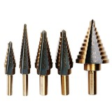 Promo 5Pcs Cobalt Multiple Hole 50 Sizes Step Drill High Speed Steel Hss Bit Set Tools Intl