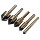 Spesifikasi 5Pcs Industrial Countersink Deburring Tool Bit Set Counter Sink 82° Angle Dan Harganya