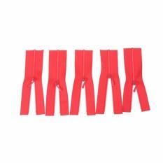 5 Pcs Mini Ritsleting untuk Boneka Gaun Tas DIY Ketrampilan Aksesoris Jahit Alat Hadiah Merah-Internasional