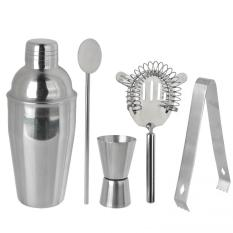 Jual 5 Buah Set Stainless Steel Bar Shaker Koktail Bar Minuman Mixer Kit Set Alat Pesta Bar Bartender 250 Ml Lengkap