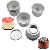 Jual 5 Pcs Lot 2 Inch Dia 6 Cm Aluminium Alloy Round Mini Cake Pan Removable Bottom Pudding Mould Diy Baking Alat Dapur Ukuran 2 Inch Oem Original