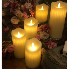 Harga 5 Pcs Lot Flameless Listrik Parafin Wax Lilin Led Light Untuk Hotel Acara Pernikahan Dekorasi Rumah Dengan Remote Controller Intl Fullset Murah