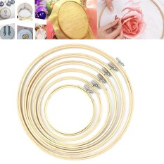 Handy Wooden Cross Stitch Machine Embroidery Hoop Ring Bamboo Sewing 13-30cm - intlIDR184000.