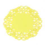 Harga 5X Lovely Silicone Lace Flower Cup Coaster Nonslip Cushion Placemat Yellow Terbaru