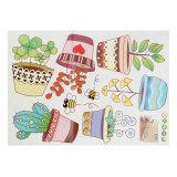 Harga 6 Warna Warni Bunga Pot Kebun Tanaman Vinyl Dinding Stiker Jendela Tile Studi Rumah Baru