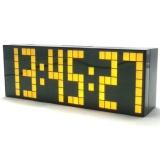 Harga 6 Digit Jumbo Led Digital Alarm Tunda Jam Dinding Meja Kuning Intl Murah