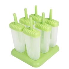 6 Grid Freezer Ice Cream Ice Lolly Juice Maker Pop Mold Mould Popsicle Icebox - intl