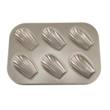 Jual 6 Hole Carbon Steel Non Stick Cake Mold Madeleine Mould Shell Shape Intl Ori