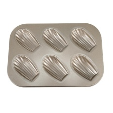 Jual 6 Hole Carbon Steel Non Stick Cake Mold Madeleine Mould Shell Shape Intl Termurah