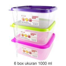 6 Kotak Makan | Toples Plastik | Lunch Box | Tempat Makan | Kotak bekal | Food Container - 8010