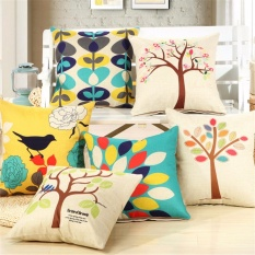 Review 6 Packs 1 Set Decorative Cushion Covers Sofa Sarung Bantal Cotton Linen Melempar Bantal Meliputi 18 X 18 Intl Tiongkok