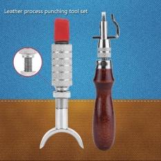 6 Pcs/set Kerajinan Kulit Punch Tools Kit Jahitan Ukir Bekerja Jahit Pelana Groover-Intl
