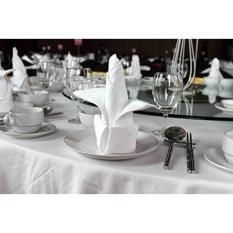 6 Pieces Serbet Makan Malam Putih untuk Jamuan Makan & Restoran, Kelas Komersial 100% Poliester dengan Kapas Lembut Sentuh, 20X20, Dibuat Di Amerika Serikat, Harga Grosir Pengemasan-Internasional