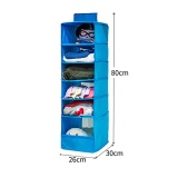 Spesifikasi 6 Section Shelves Hanging Wardrobe Shoe Garment Organiser Storage Clothes Intl Not Specified Terbaru