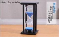 60 Menit Kaca Crystal Hourglass Perabot Rumah Kreatif Kerajinan Hadiah Kantor Meja Ornamen Kayu Jam Pasir Waktu-Intl