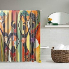 Spesifikasi 60 Cartoon African Woman Polyester Design Home Bathroom Shower Curtain Hook Set Intl Dan Harga