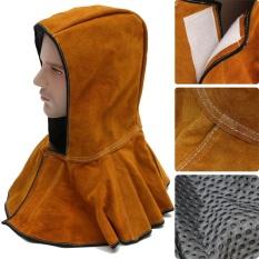 60 Cm Kulit Hood Helm Masker Pelindung Cap untuk Tukang Las Pengelasan Listrik Kerja-Intl